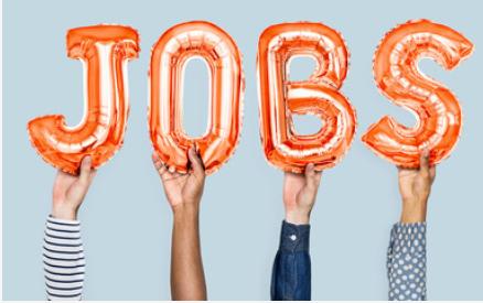 image of balloons saying jobs